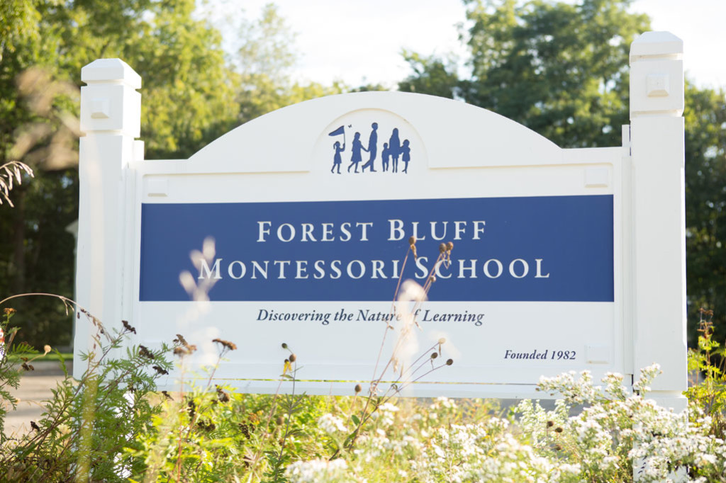 Forest Bluff School sign