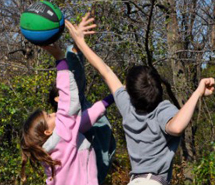 Forest Bluff Montessori School students outside playing, Montessori testimonials