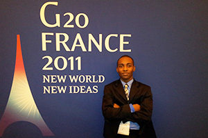 A Montessori alumnus attends the G20 Summit in France.