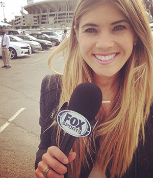 A Montessori alumnus is working as a television journalist for Fox Sports.