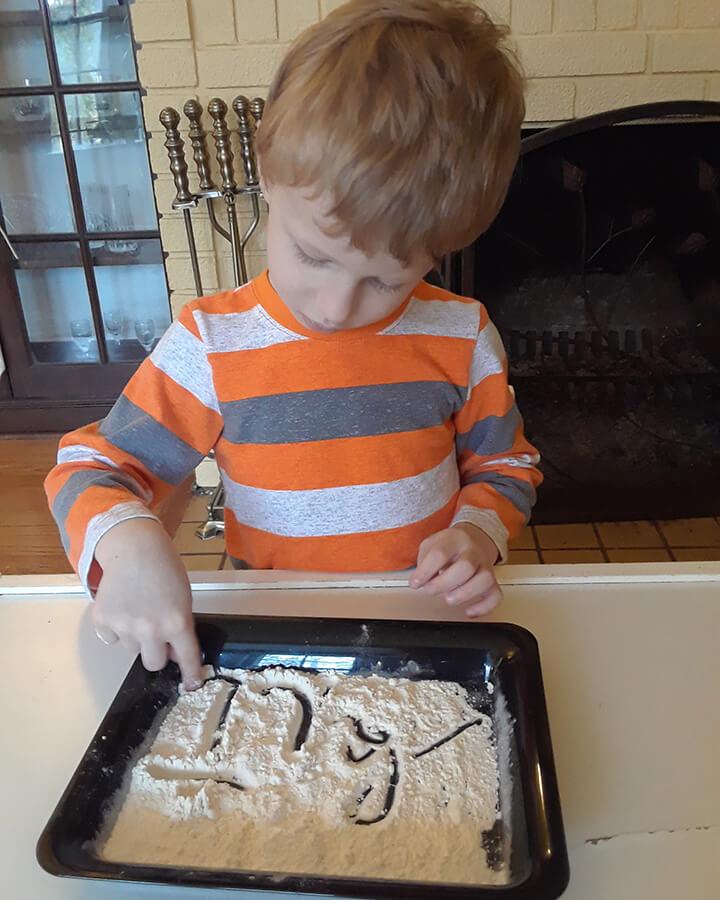 Cursive in Flour