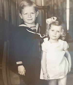 Paula Polk Lillard and her brother as young children during the Great Depression